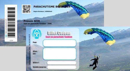 Offrez un saut en parachute